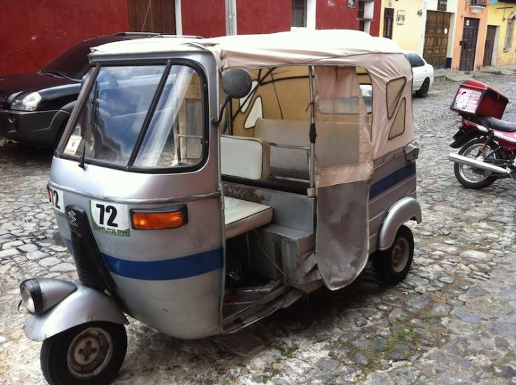 Tuk-tuk or mototaxi, a popular form of transportation in Guatemala