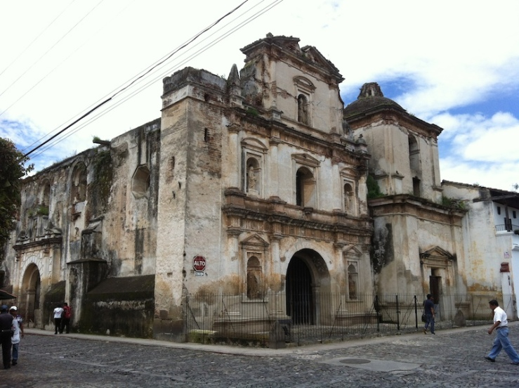 You would be walking and there would be beautiful ruins of churches just chillin'. It's amazing.